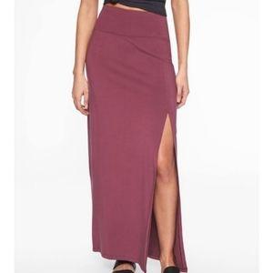 Athleta Mauve Pocket Side Slit Marina Maxi Skirt